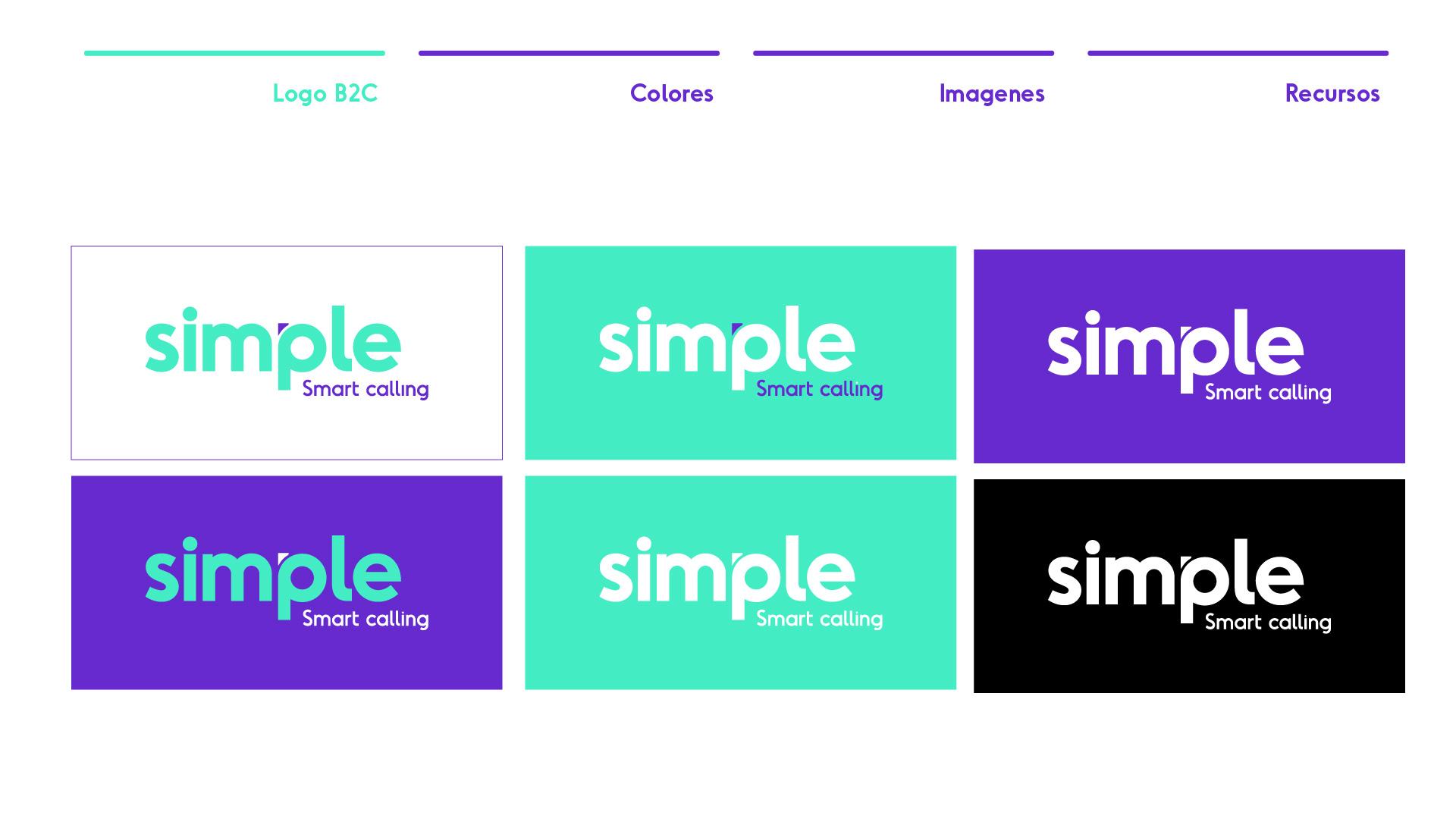 Trabajo de branding para Simple Móvil