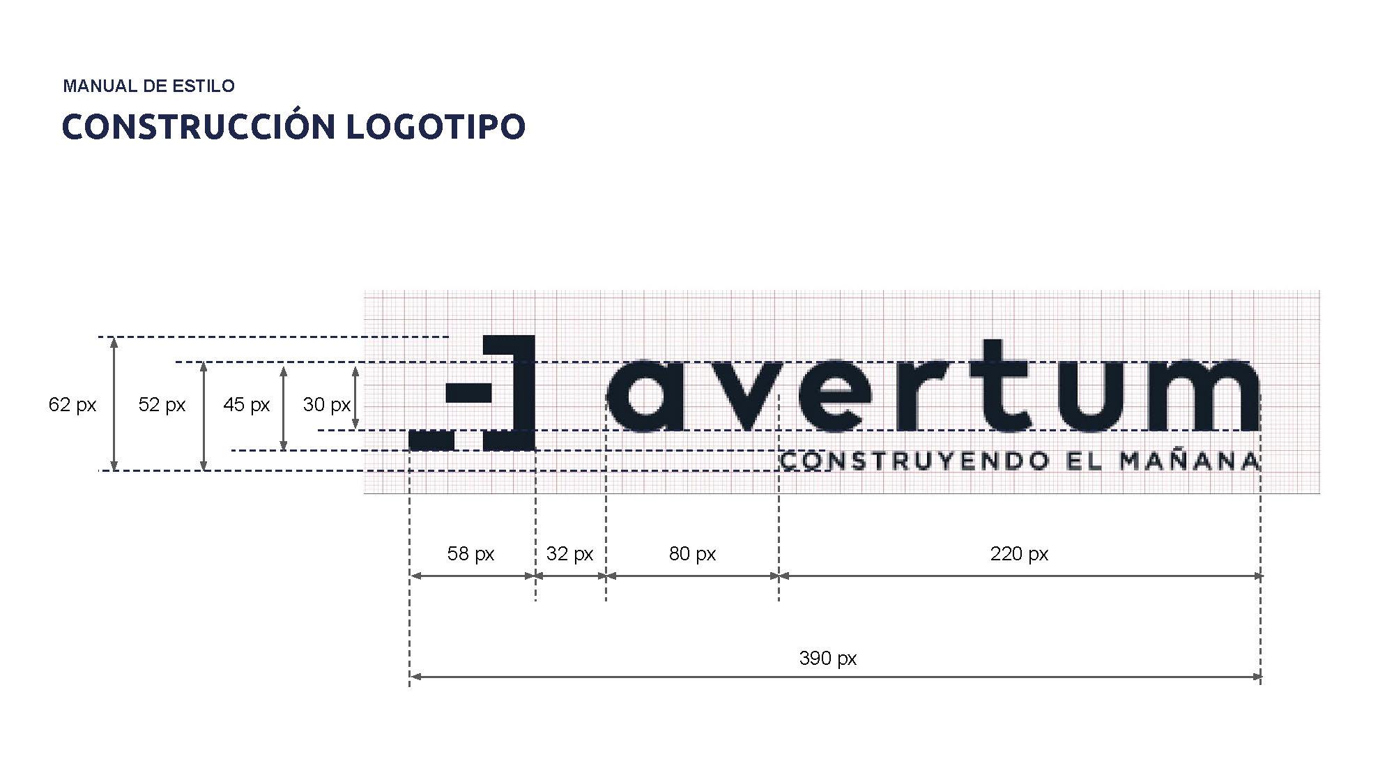 Construcción del logo de Avertum