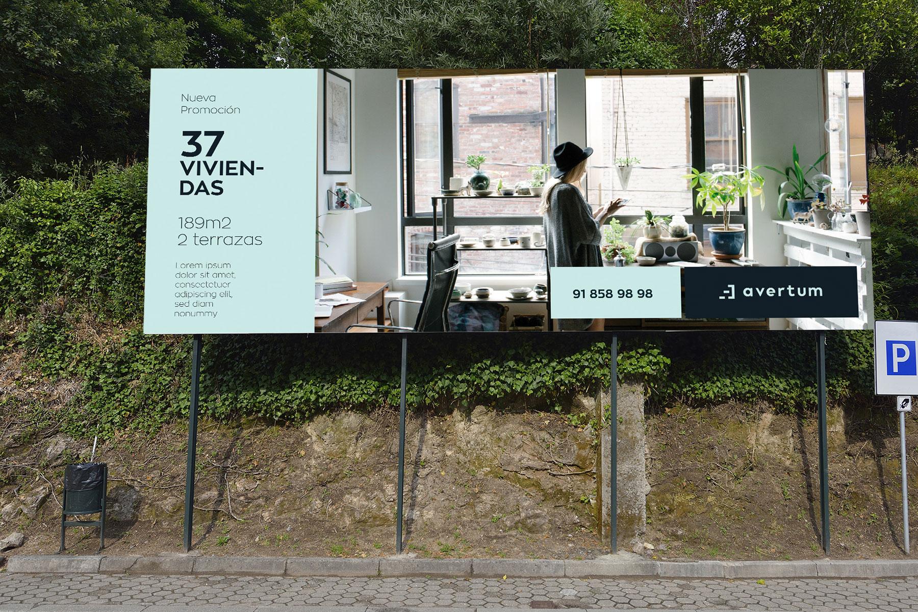 Diseño de valla publicitaria para aVertum by Reaktiva