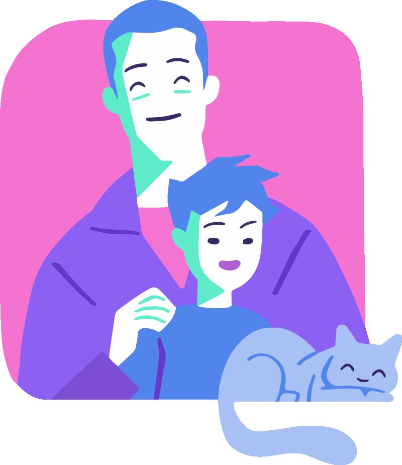 ilustraciones a medida para Simple Móvil creadas por Reaktiva.