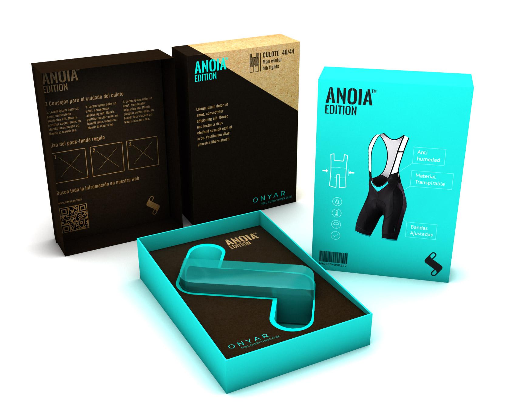 Muestra diseño packaging gama alta Onyar