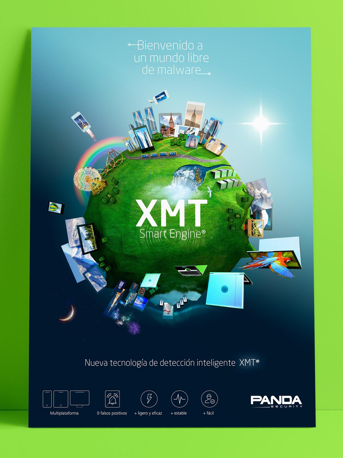 Visual de campaña Proyecto Panda - Un Mundo Sin Malware